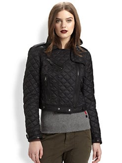 Burberry Brit - Quilted Moto Cross Jacket