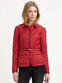 Burberry Brit - Studded-Belt Quilted Jacket