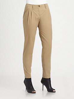 Burberry Brit - Pleat-Front Slim Pants