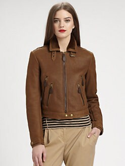 Burberry Brit - Shearling Moto Cross Jacket