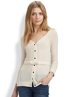 Burberry Brit - Bow-Belt Cashmere Cardigan
