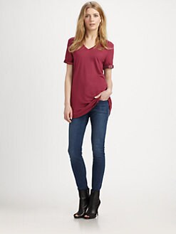 Burberry Brit - Reversible V-Neck Tee