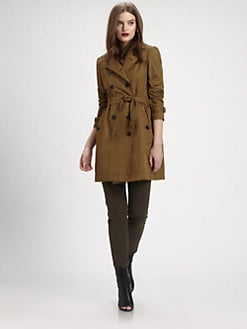 Burberry Brit - Gathered-Back Trench Coat