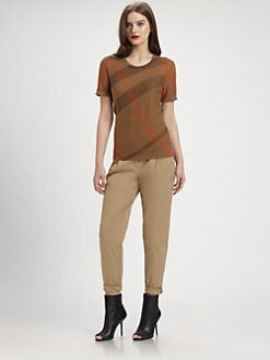Burberry Brit - Reversible Short Sleeve Sweater