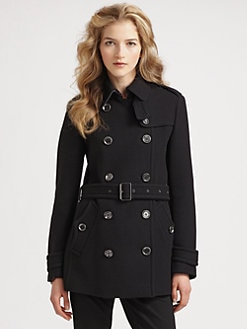 Burberry Brit - Double Breasted Belted Coat