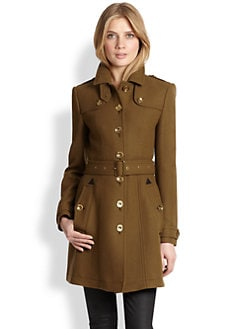 Burberry Brit - Leather-Detail Didmoore Coat