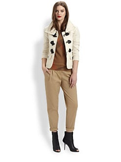 Burberry Brit - Merino Wool Toggle Jacket