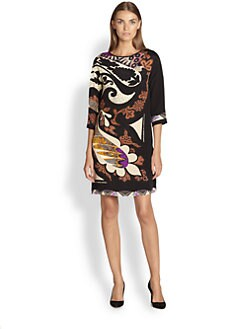 Etro - Printed Silk Tunic Dress