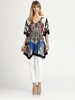 Etro - Floral Paisley Silk Poncho