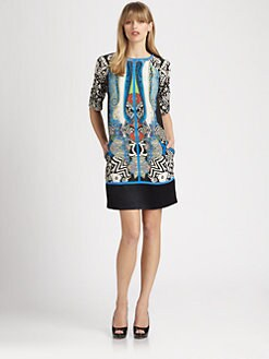 Etro - Silk Ikat Tunic Dress