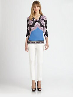 Etro - Silk Cowl Neck Top