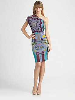 Etro - Asymmetrical Jersey Dress