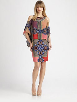 Etro - Cold-Shoulder Silk Dress