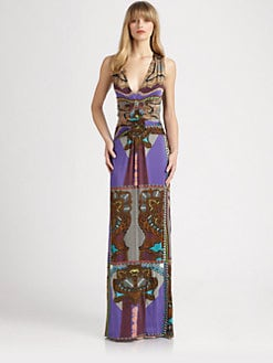 Etro - Printed Jersey Gown