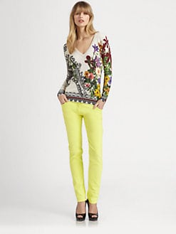 Etro - Floral Paisley Silk Sweater