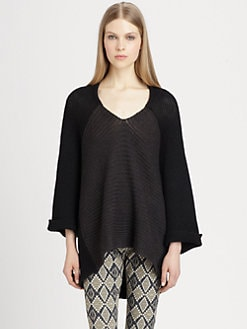 Etro - Wool, Silk & Yak Dolman-Sleeved Cocoon Sweater