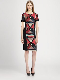 Etro - Diamond-Print Stretch Knit Dress