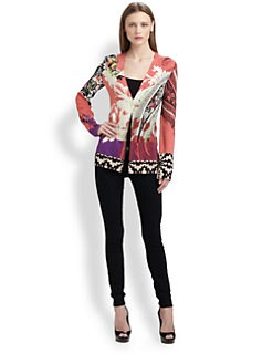 Etro - Silk One-Button Cardigan