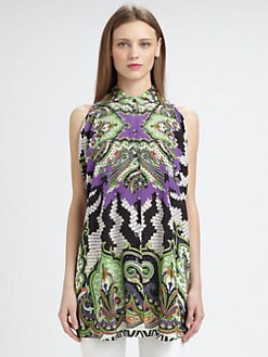 Etro - Silk Batwing Sleeve Tunic