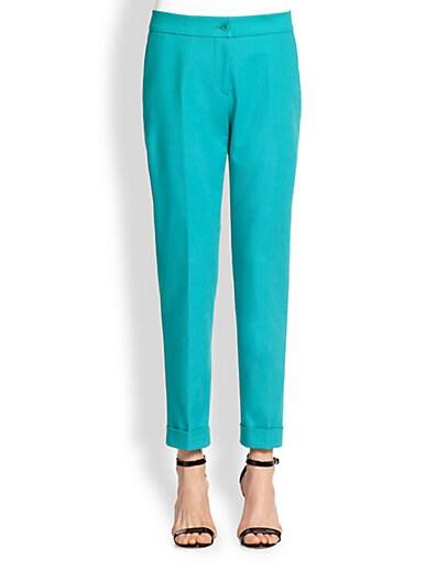 Cuffed Stretch Cotton Pants