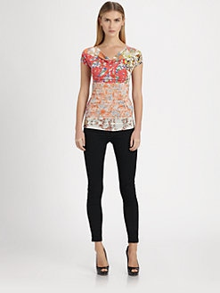Etro - Cherry Blossom Jersey Top