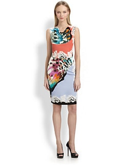 Etro - Painted Floral Jersey Dress