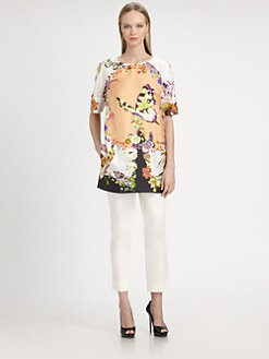 Etro - Silk Twill Butterfly Tunic