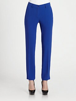 Etro - Stretch Cady Straight-Leg Pants
