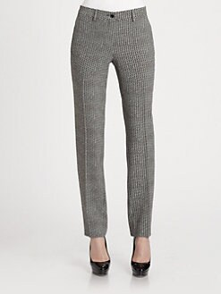 Etro - Graphic-Print Stretch Cady Straight-Leg Pants