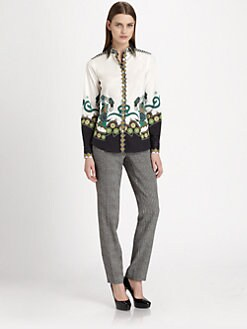 Etro - Printed Stretch Cotton Shirt