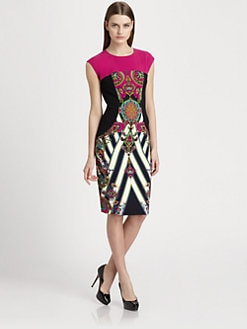 Etro - Printed Stretch Cady Dress