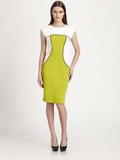 Etro - Colorblock Stretch Cady Dress