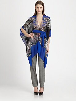 Etro - Silk Chiffon Printed Poncho