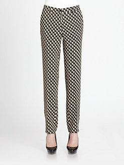 Etro - Printed Straight-Leg Pants