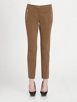 Etro - Stretch Cotton Straight Leg Ankle Pants