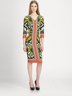 Etro - Printed Stretch Knit Dress