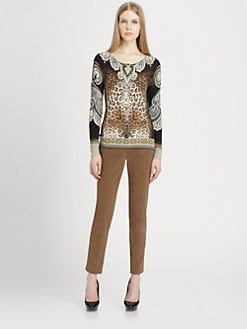 Etro - Silk & Cashmere Printed Sweater