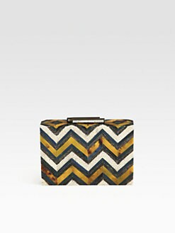 R & Y Augousti - Pen Shell Box Clutch