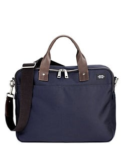 Jack Spade - Leather-Trimmed Nylon Briefcase