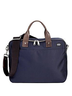 Buy briefcases for men - Jack Spade Leather-Trimmed Nylon Briefcase - Navy
