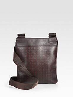 Salvatore Ferragamo - Embossed Leather Side Bag