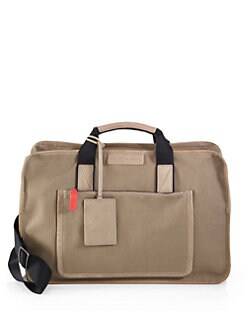 Marc by Marc Jacobs - Leather-Trimmed Waxed Canvas Duffel Bag