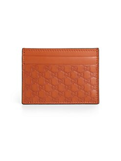 Gucci - Microguccissima Leather Card Case