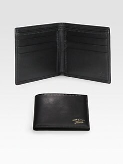 Gucci - Crafty Leather Bi-Fold Wallet