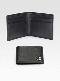 Gucci - Ace Leather Small Bi-Fold Wallet