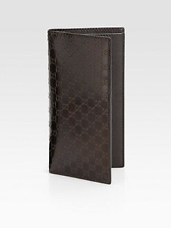 Gucci - Metallic Micro GG Leather Check Book Cover