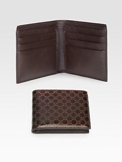 Gucci - Metallic Micro GG Leather Bi-Fold Wallet
