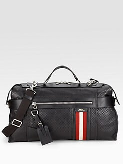 Bally - Perforated Leather Travel Duffle
