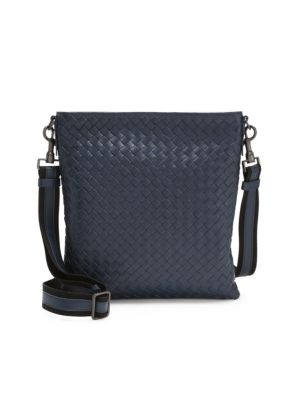 Borsa Intrecciato Leather Crossbody Bag