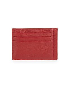Bally - Embossed Leather Credit Card Case